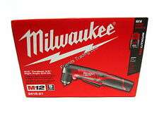 Milwaukee 12V 12 Volt M12 Lithium Ion Cordless Right Angle Drill Driver 2415-21