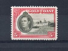 GOLD COAST GEORGE VI 5/- SG131 Line perforation lightly hinged. Cat £110.