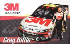 2012 Greg Biffle 3M Ford Fusion NASCAR postcard