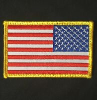 USA AMERICAN REVERSE FLAG ARMY MORALE BADGE FULL COLOR PATCH VELCRO® BRAND