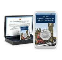 The Brexit 50p Coin Capsule Edition - Limited to 995 Worldwide - Eu Exit - Bunc