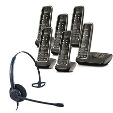 Cordless Phone Gigaset C530A 6 Handsets w Answer Machine and Corded Headset