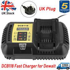 For DEWALT DCB118 10.8V-18V-60V 4.5A Charger DCB182 DCB184 XR Li-ion Battery UK