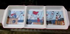 "5 Pc Deshoulieres Limoges MARTINE GRANDVAL ""Boating Par"" Server & Canapes"