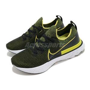 Nike React Infinity Run FK Flyknit Black Yellow White Men Running CD4371-013
