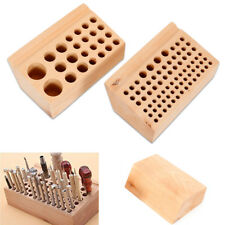 Wooden craft Holder Rack Stand for 76/24 holes Leather Stamp Punch Chisel Tool