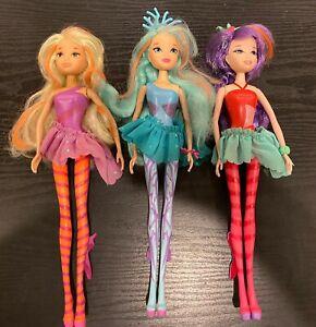 Winx Club Stella, Bloom, and Musa Sirenix Dolls Lot Of 3
