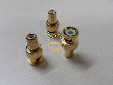 5 Pcs BNC Male Plug to RCA Female Jack Coax Cable Video Adapter Connector