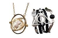 Parure Harry Potter Collier retourneur de temps + bracelet noir hiboux