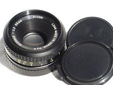 PENTAX  K (PK) mount  fit RICOH RICONAR  55 mm F 2.2 lens SN125145