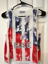 Girls Claire's patriotic top size 10 / 12 4th of July