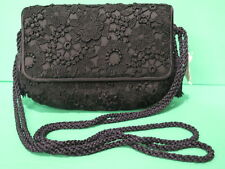 Vintage Judith Leiber Black Lace Satin Purse Bag NEW with Neiman Marcus Tag
