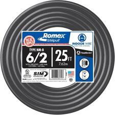 Southwire 25 ft. 6/3 Romex Type NM-B Non-Metallic Wire,  63950021
