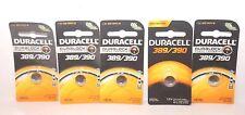 (5) 389/390 Duracell Silver Oxide Batteries (AG10, 189, LR1130, SR1130SW, SR54)