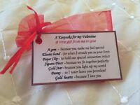 Keepsake Valentines gift for my boyfriend gift valentine novelty boyfriend gift