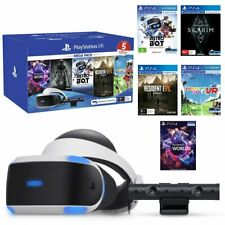 Sony Playstation VR Mega Bundle With 5 Virtual Reality Games PSVR Headset Camera