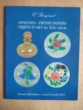 BOISGIRARD, OPALINES PRESSE PAPIERS OBJETS D'ART du XIXe Siècle DROUOT RICHELIEU