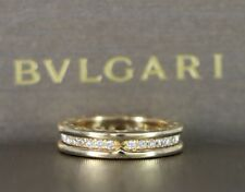 $4,950 Bvlgari 18K Yellow Gold Bulgari B.Zero1 Diamond Wedding Band Ring Sz 5.75