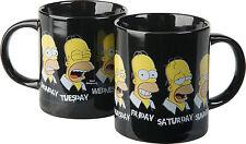 The Simpsons Tasse Daily Homer A Normal Week Kaffeetasse Keramik Becher Mug