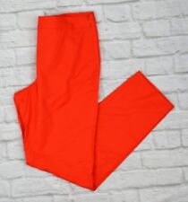 Natori Women's Straight Ankle Pants Dress Slacks Trousers Side Zip Red Size 10