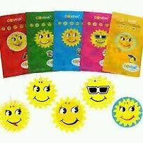 100X ASSORTED COVEVA SMILEY SUN HANGING CARAVAN CAR VALET AIR FRESHENERS