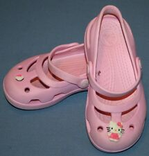 Hello Kitty Crocs Girls 9 Toddler Child Youth Pink Mary Jane Shoes Water Beach