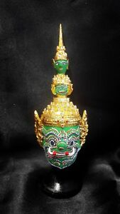 "Thai King of Arts Handmade Tossakan ""Khon Mask"" Drama Collectible Gift"