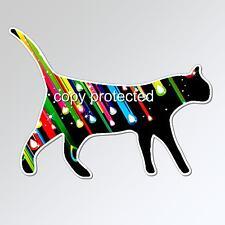 cat car bumper sticker colourful star struck walking kitten 125 x 93 mm vinyl