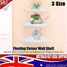 3X Corner Floating Shelf Set Wall Mounted Shop Bookshelf Display Concealed Decor
