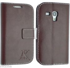 FOR SAMSUNG GALAXY S3 MINI I8190 LEATHER CASE COVER FLIP WALLET POUCH + FREE SP