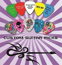 100 Custom Personalised Guitar Picks ~ Plectrums Print one side