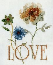 """Design Works Counted Cross Stitch Picture Kit GOLDEN LOVE 9"""" x 11"""""""