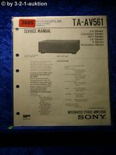 Sony Service Manual TA AV561 Amplifier (#3665)