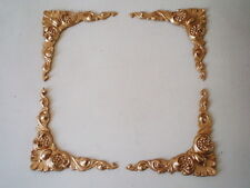 MIRROR FRAME PICTURE FRAME ANTIQUE GOLD ORNATE CORNER MOULDINGS