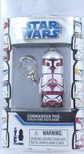 STAR WARS Commander FOX Keychain Keyring Stack 'Em Lucas Clone Retired NEW S3