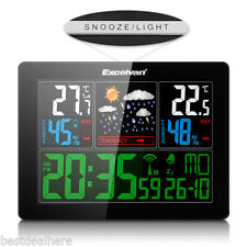 LED Wireless Weather Station Clock With Forecast/Temperature/Humidity For Home