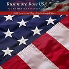 American Flag 5x8 - Premium American Made Large US Flag 5x8 ft - Embroidered Sta