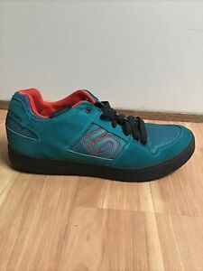 Five Ten Freerider Contact Mountain Bike Shoes 10.5 Turquoise/Red/Black