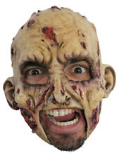 ZOMBIE CHINLESS HEAD MASK WITH CHINSTRAP LATEX HORROR HALLOWEEN