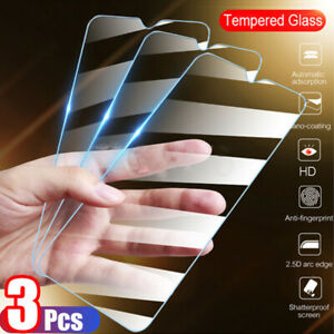 3Pcs 9H Real HD Clear Tempered Glass Screen Protector Film For Smart CellPhone