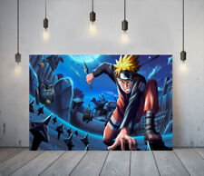 NARUTO 1 -DEEP FRAMED CANVAS ANIME WALL ART PICTURE PAPER PRINT- BLUE YELLOW