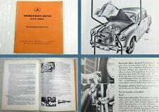 Mercedes Benz 220a W180 I Baujahre 1954 - 1956 Betriebsanleitung Ausgabe 1965