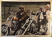 Original Blacklight Vintage Poster Easy Rider Dennis Hopper Peter Fonda Pin Up