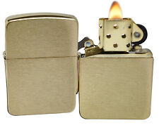 Zippo 1941B 1941 Replica Brushed Brass Windproof Pocket Lighter NEW