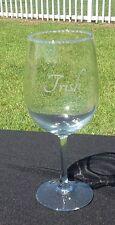 Custom monogrammed wine glass