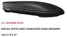 "BOX AUTO TETTO ""MARATHON DARK "" MENABOO 400 LT  BAULE MADE IN ITALY + GARANZIA"