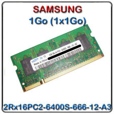 1 Go Samsung = 1x 1 Go 2rx16 pc2 6400s-666-12-a3 so-dimm d'occasion