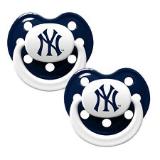 New York Yankees Pacifiers 2 Pack Set Infant Baby Fanatic BPA Free MLB