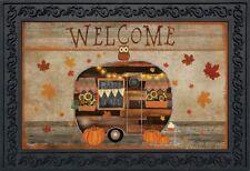 """Fall Camper Primitive Doormat Welcome Indoor Outdoor 18"""" x 30"""" Briarwood Lane"""