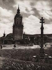 1922 Vintage SPAIN Burgo de Osma Ciudad Osma Cathedral Architecure Art HIELSCHER